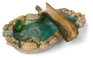Fairy Garden pond or small lake with a tree bridge & koi MG283