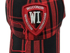 Wisconsin Plaid Baseball Hat | Robin Ruth design | Unisex