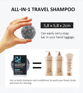 Bar Shampoo for Dry Hair, Dandruff Free, Anti Itchy, Anti Loss Hair and Hair Darkening - Findurtrend