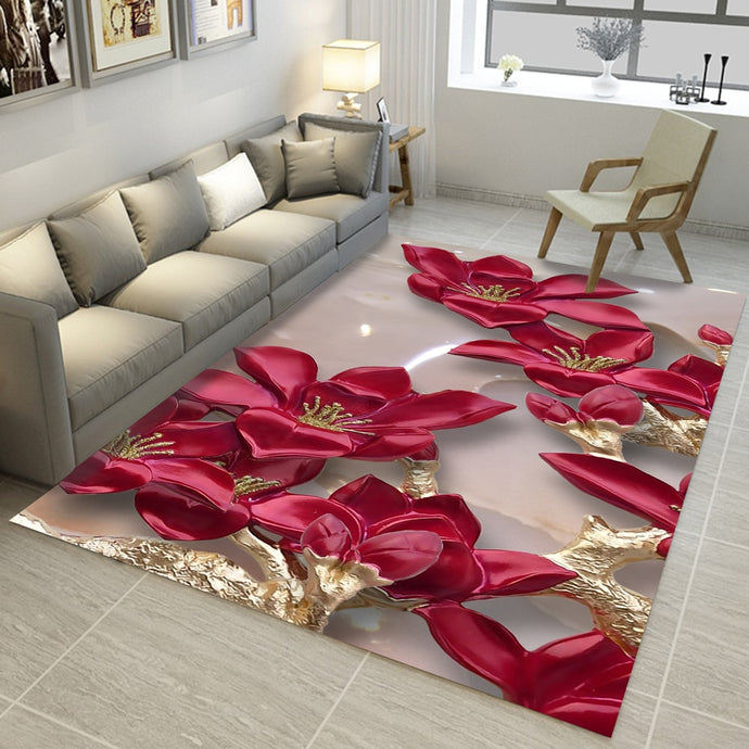 Rectangular 3D Designer Carpets - findurtrend