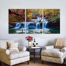 Load image into Gallery viewer, 3 Piece Waterfall Canvas Wall Art - findurtrend