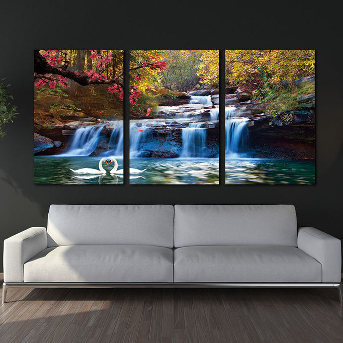 3 Piece Waterfall Canvas Wall Art - findurtrend