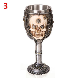 3D Gothic Stainless Steel Wine Glass - findurtrend