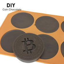 Load image into Gallery viewer, 6 Grids Bitcoin Design Silicone Ice Cube Mold - Cookie Mold - findurtrend