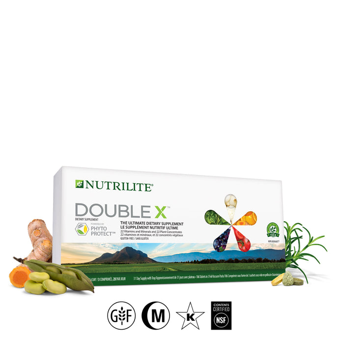 Nutrilite™ Double X™ Vitamin/Mineral/Phytonutrient Supplement - 31-Day Supply with 3-Compartment Case - findurtrend