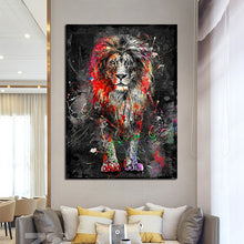 Load image into Gallery viewer, Abstract Lion Canvas Painting - findurtrend
