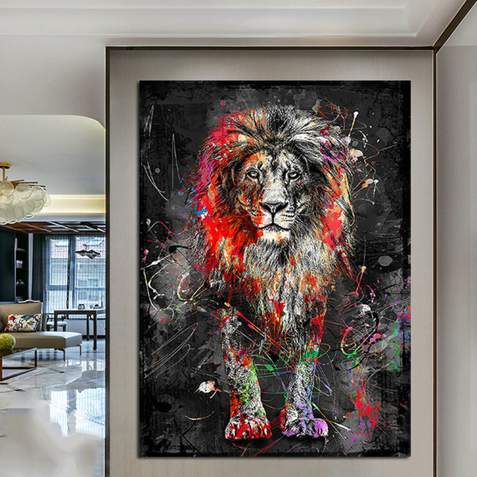 FREE Abstract Lion Canvas Painting - findurtrend