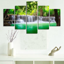 Load image into Gallery viewer, 5 Panel Descending Waterfall Painting - findurtrend