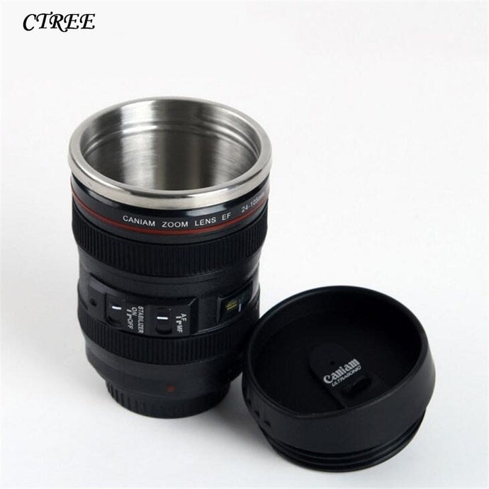 400ML SLR Camera Lens Coffee Tea - Travel Mug - findurtrend