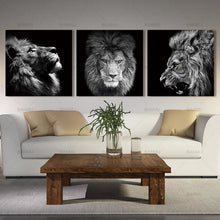 Load image into Gallery viewer, FREE 3 Panels Roaring Lion Wall Art Canvas - findurtrend