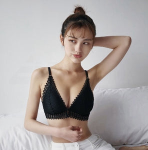 Sexy Lace Wireless Bra - findurtrend