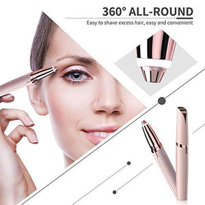 Mini Electric Eyebrow Trimmer Lipstick Brows Pen Hair Remover Painless Eye brow Razor Epilator With LED Light - findurtrend