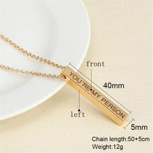 Load image into Gallery viewer, ⏳Personalized Square Bar Necklace - findurtrend