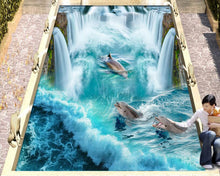 Load image into Gallery viewer, 3D dophins Wallpaper - findurtrend