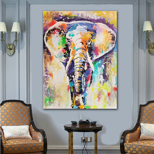 Colorful Elephant Wall Art - findurtrend