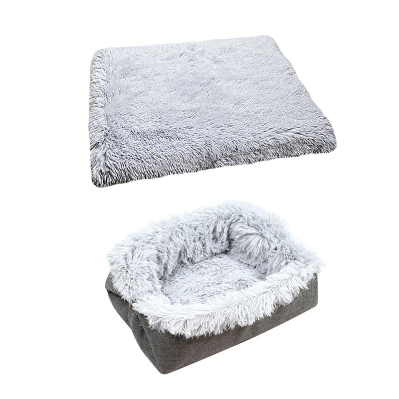 Plush Bed For House Pets - Two-in-one Pet Mat