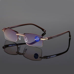 Ahora Anti Blue Light Blocking Rimless Reading Glasses - Presbyopic Glasses Diopters