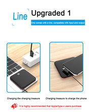 Load image into Gallery viewer, Mini Power Bank 8000mah Thin Mirror Screen 2.1A Fast Charging 3 in 1 Built-in Line Wireless Charger - findurtrend