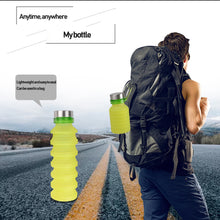 Load image into Gallery viewer, Silicone Collapsible Water Bottle 550ml - findurtrend
