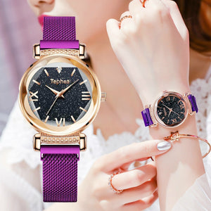 Luxury Magnet Buckle Waterproof Female Wristwatch - findurtrend