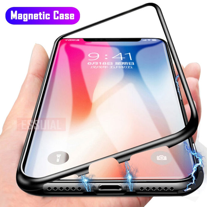 Tempered Glass Magnetic Case for iPhone X 8 Plus 7 XS Max - findurtrend