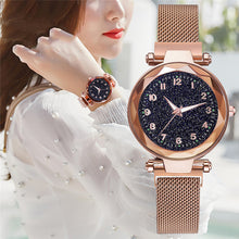 Load image into Gallery viewer, Luxury Magnetic Mesh Female Wristwatch - findurtrend