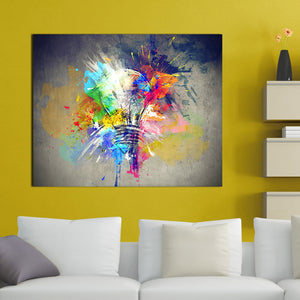 Colour Explosion Oil Painting - findurtrend