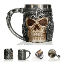 Load image into Gallery viewer, 3D Gothic Stainless Steel Coffee / Beer Mugs - findurtrend
