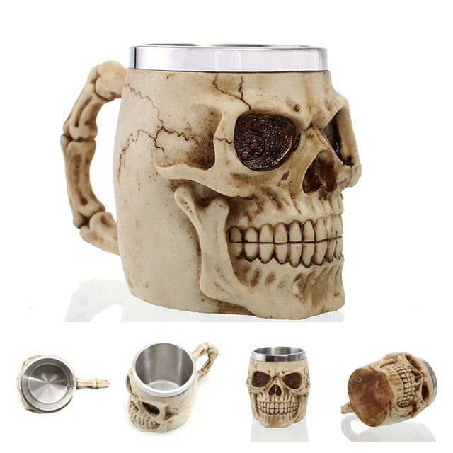 3D Gothic Stainless Steel Coffee / Beer Mugs - findurtrend
