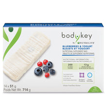 Load image into Gallery viewer, BodyKey by Nutrilite™ Nutritional Supplement Bar – Blueberries & Yogurt - findurtrend