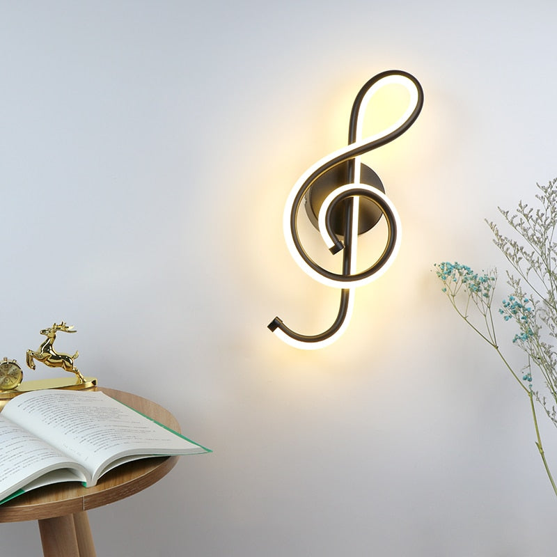 Treble Clef Wall Lamp - findurtrend