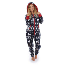 Load image into Gallery viewer, Women Long Sleeve Ladies 3D Christmas Elk Printed Jumpsuit Pyjamas Nightwear - findurtrend