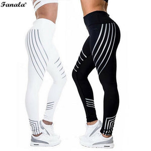 Sporting Strip Printed Workout Legging - findurtrend