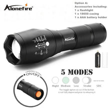 Load image into Gallery viewer, Alonefire G700 X800 CREE XML T6 L2 U3 LED high power Zoom Tactical LED Flashlight Torch lantern AAA 18650 Rechargeable Battery - findurtrend