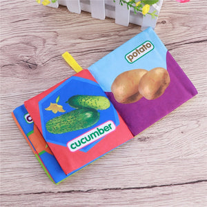 Baby Soft Cloth Books Early learning Educational Toys (Vegetable) - findurtrend