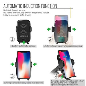 Wireless Car Charger and Mount - QI Standard Fast Charging - findurtrend