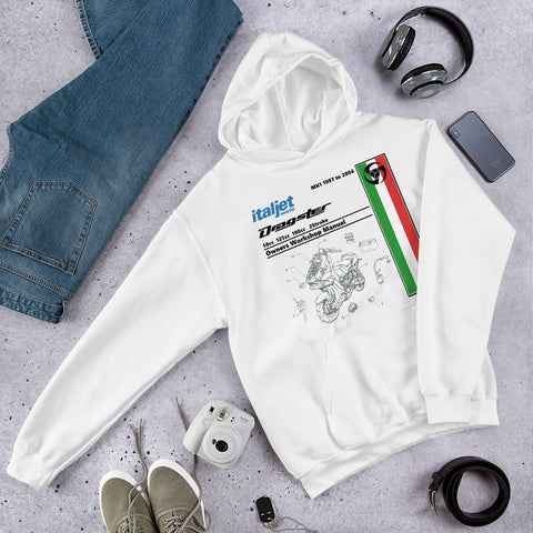 Italjet Dragster Workshop Manual Hooded Sweatshirt