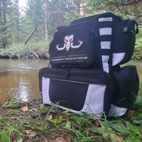 Prowler Pack fishing Backpack from Mammoth Innovations beside creek