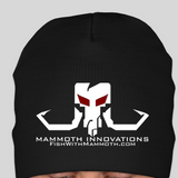 BLACKOUT beanie toque hat from Mammoth Innovations fishing black front view