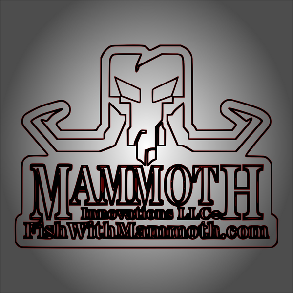 logo decal sticker from Mammoth Innovations fishing wireframe product card