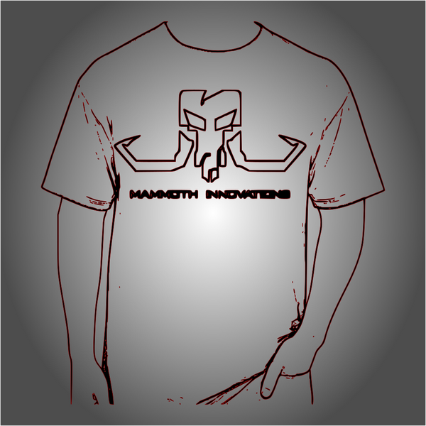 BLACKOUT tshirt from Mammoth Innovations fishing wireframe product card