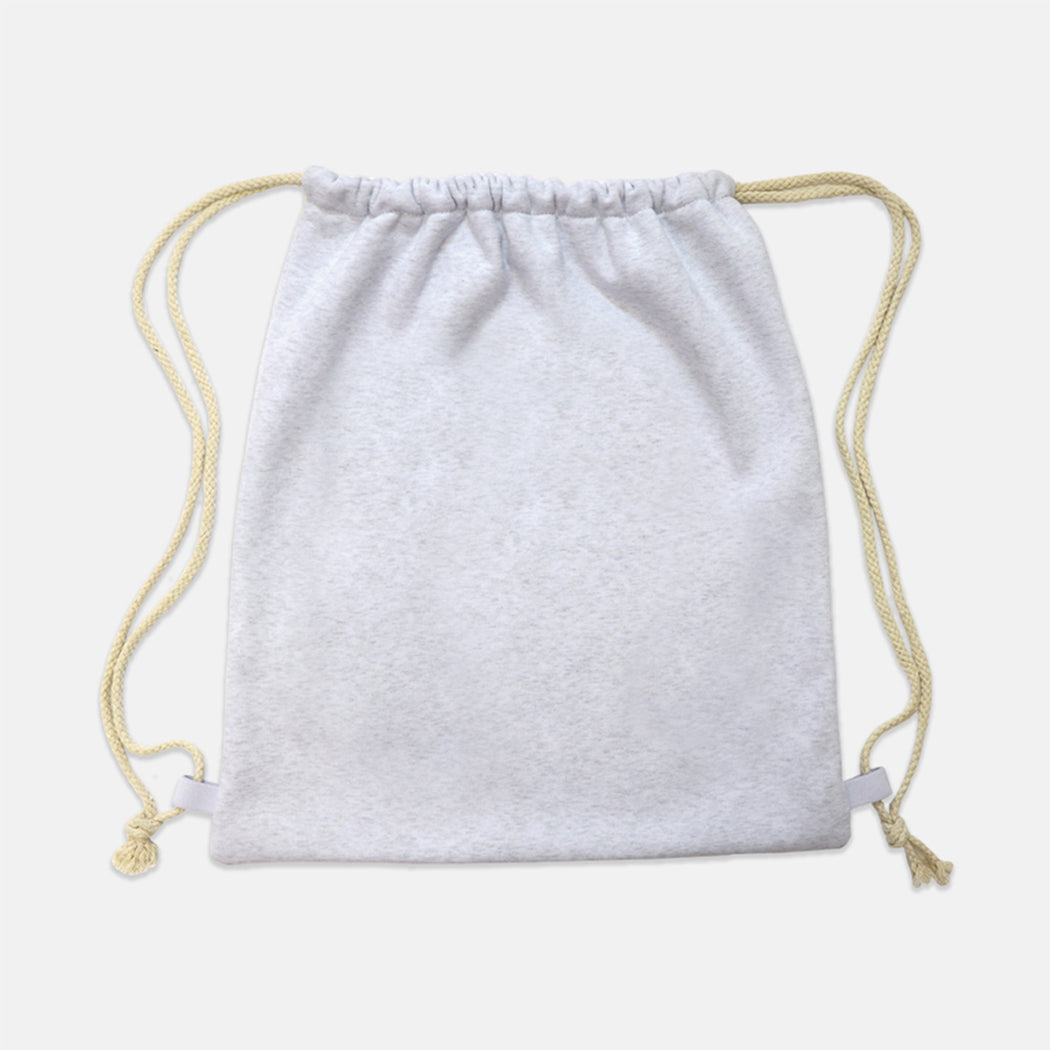 Drawstring Sweatshirt Bag (Gray)