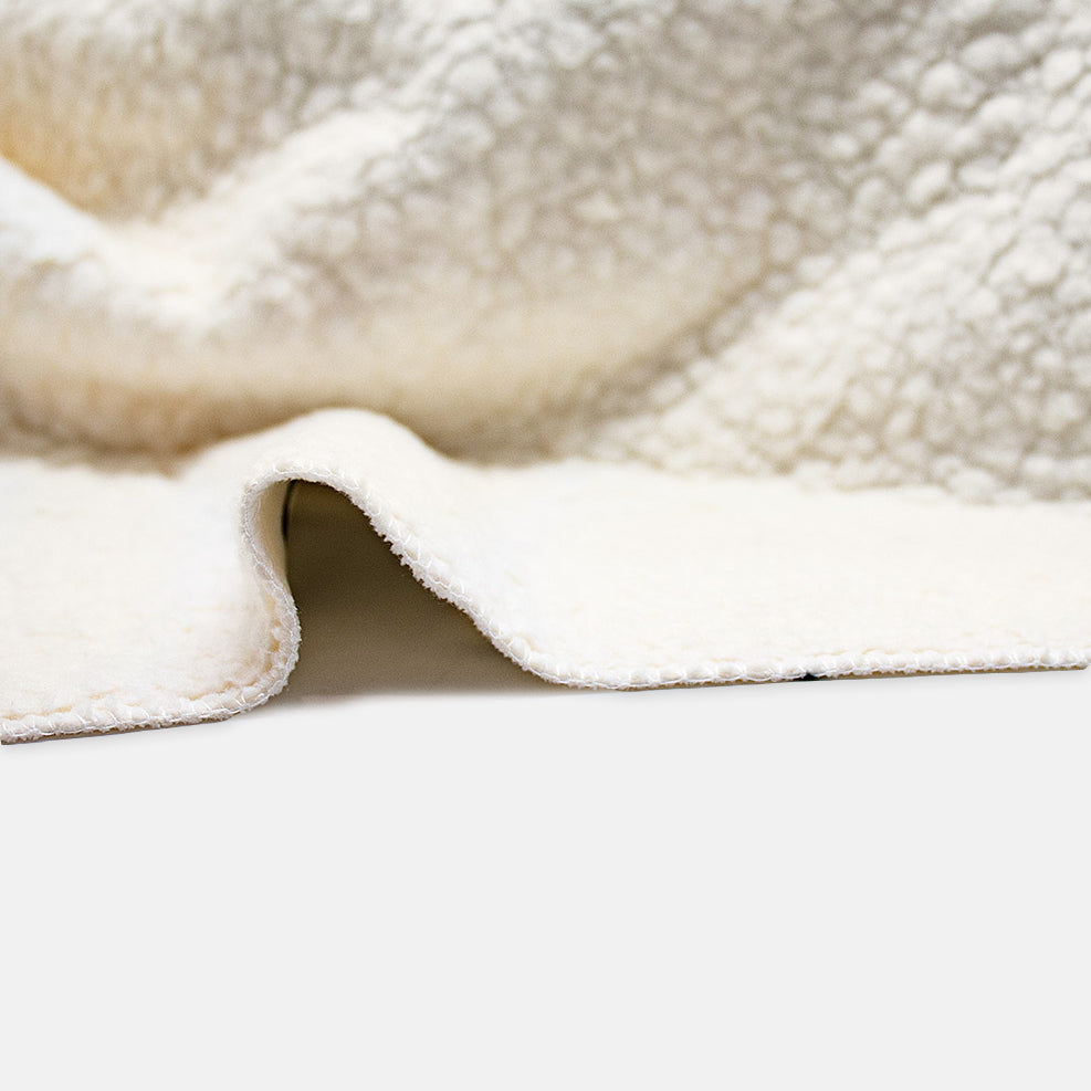 "Sherpa Blanket - 60"" x 80""(CREAM)"