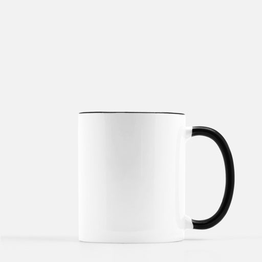 drop ship black and white mug