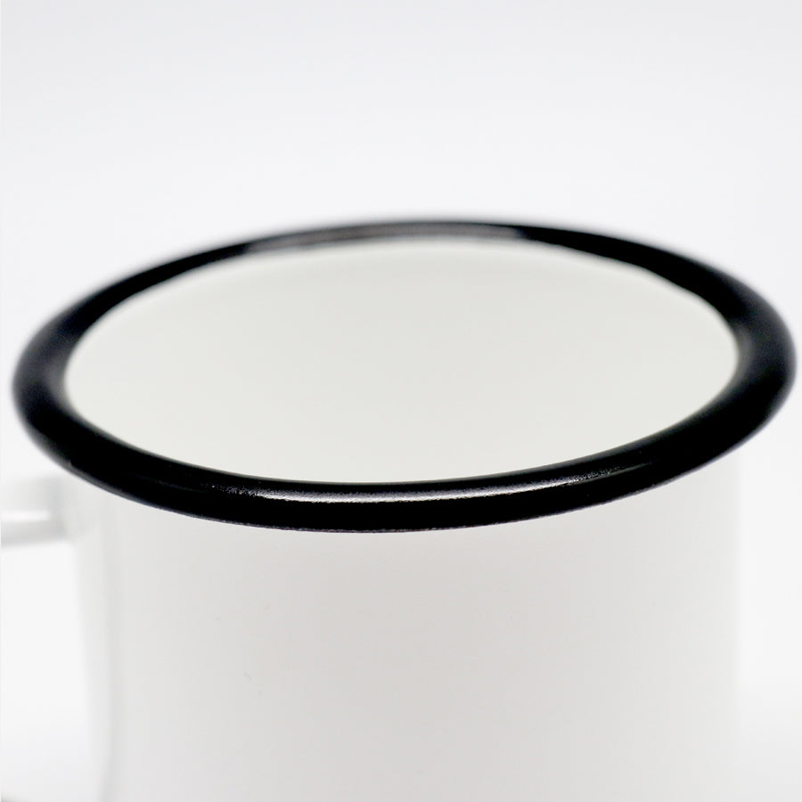 Camp Mug 10 oz. (Black Rim)