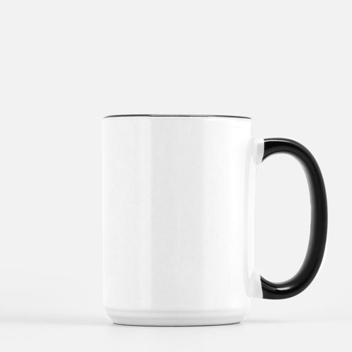 15oz black and white mug drop ship