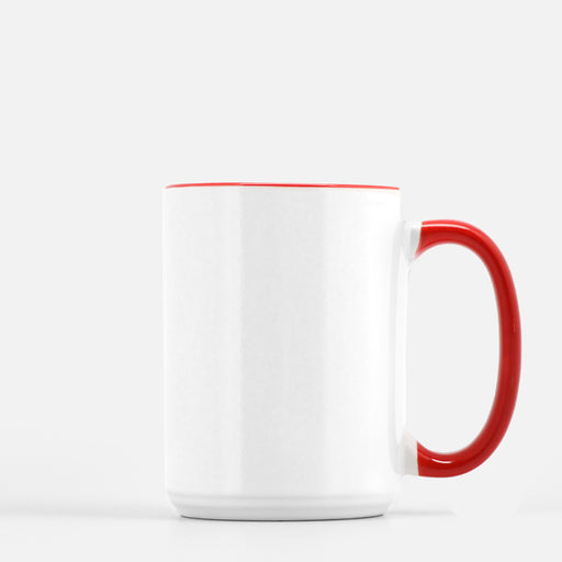 Mug Deluxe 15oz. (Red + White)