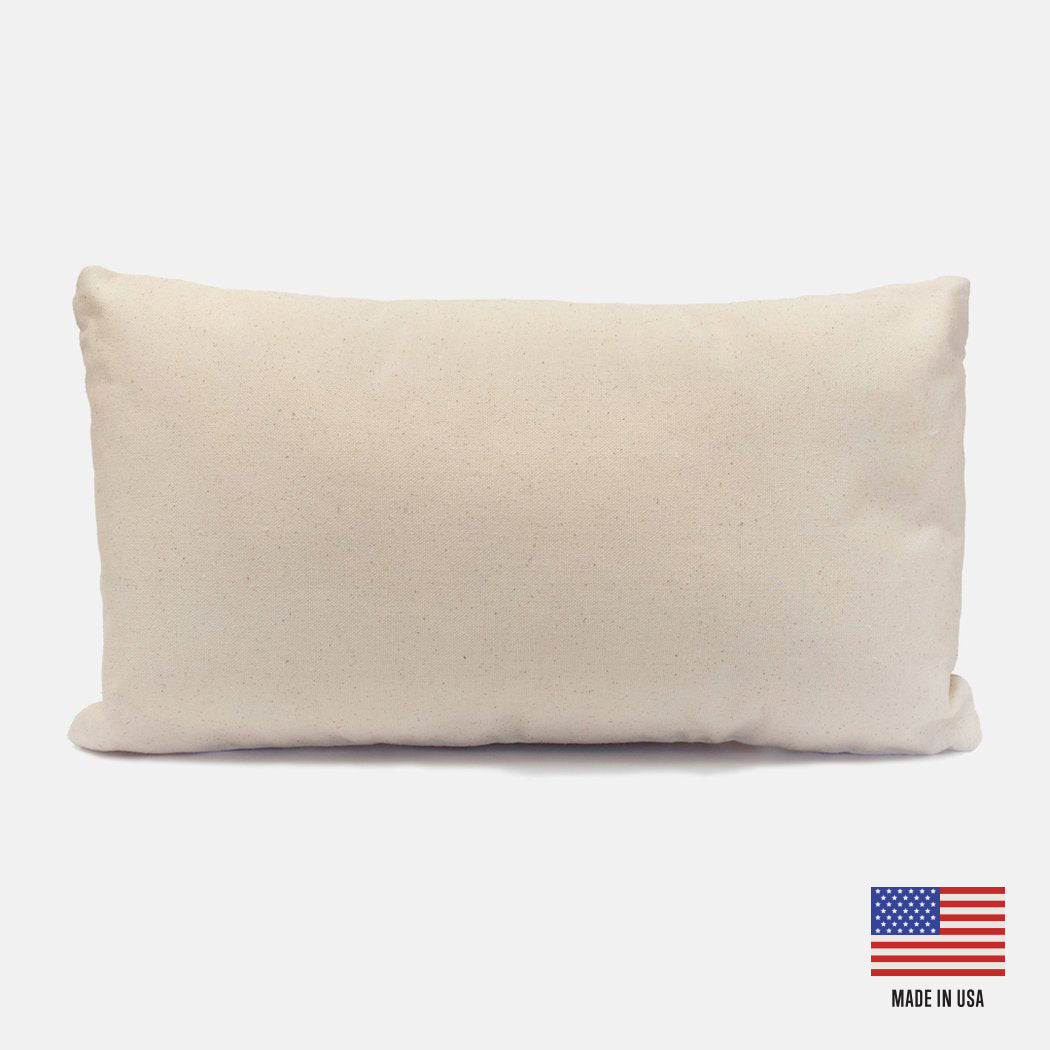 Canvas Lumbar Pillow Case
