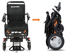 Load image into Gallery viewer, BLACK Discounted Folding Electric Wheelchair | Leitner BILLI | Signs of usage