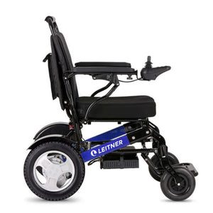 Discounted Light-Weight Folding Electric Wheelchair | Leitner BILLI - BLUE with signs of usage and minor scratches